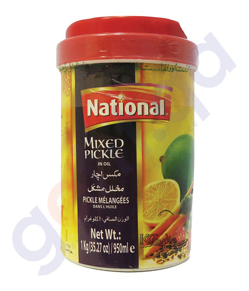 BUY BEST PRICED NATIONAL MIXED PICKLE 1000GM ONLINE IN QATAR