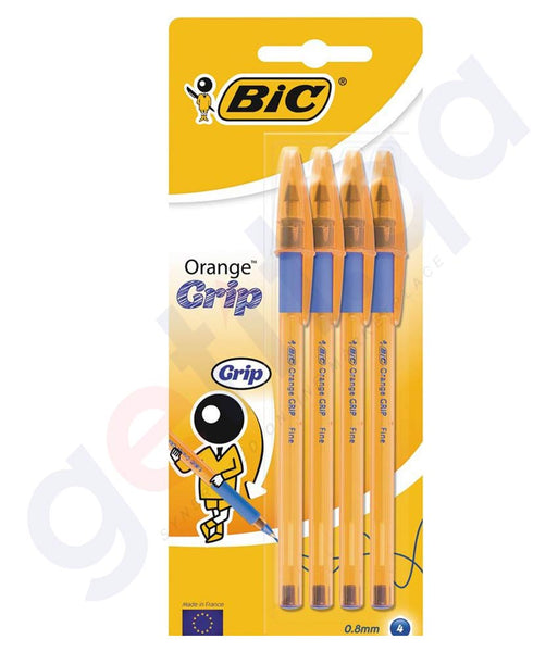 BUY BIC ORANGE GRIP 4 PIECES BLUE ONLINE IN DOHA QATAR