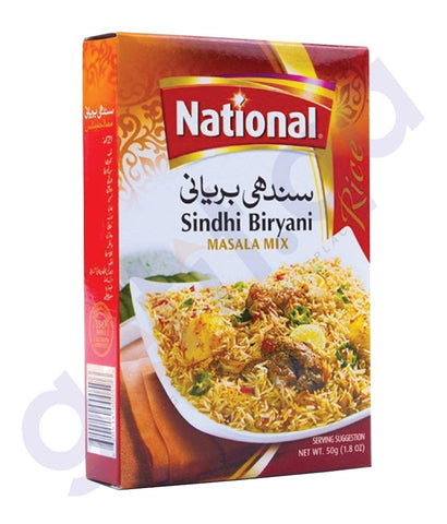 BUY BEST PRICED NATIONAL SINDHI BIRIYANI MASALA MIX 50GM IN QATAR