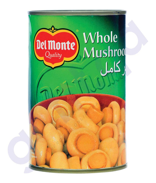 BUY BEST PRICED DEL MONTE MUSHROOM WHOLE 400 GM IN QATAR