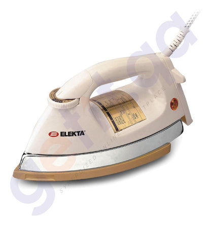 BUY ELEKTA HEAVY DRY IRON WITH GOLD PLATE - EDI-1555GPMKII IN QATAR