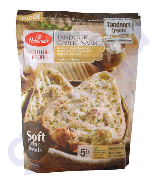 BUY HALDIRAMS FROZEN TANDOORI GARLIC NAAN 400GM ONLINE IN QATAR