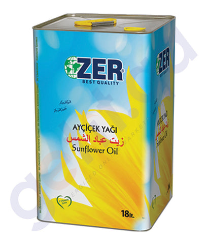 BUY BEST PRICED ZER SUNFLOWER OIL 18LTR TIN ONLINE IN QATAR