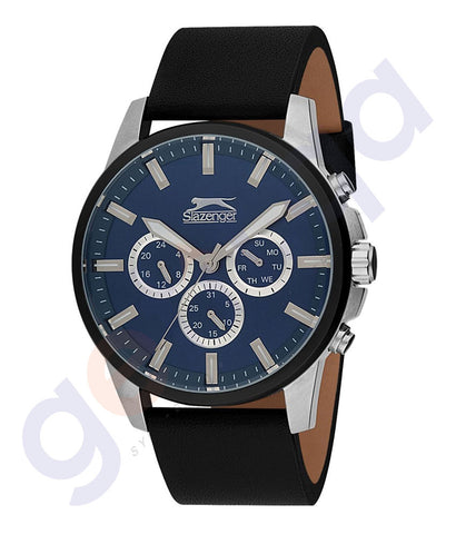 Slazenger Gents Multi Stainless Steel Case Silver Dial  Stainless Steel Bracelet -SL.9.6086.2.01