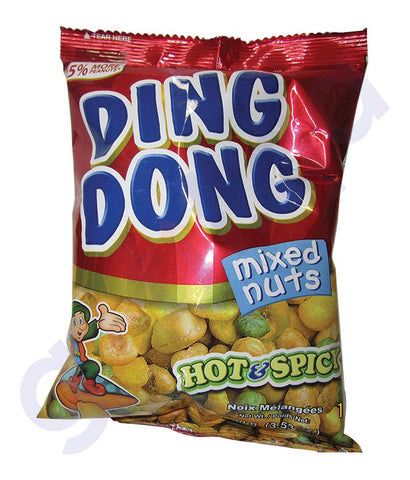 BUY BEST PRICED DING DONG MIXNUT HOT & SPICY 100GM IN QATAR