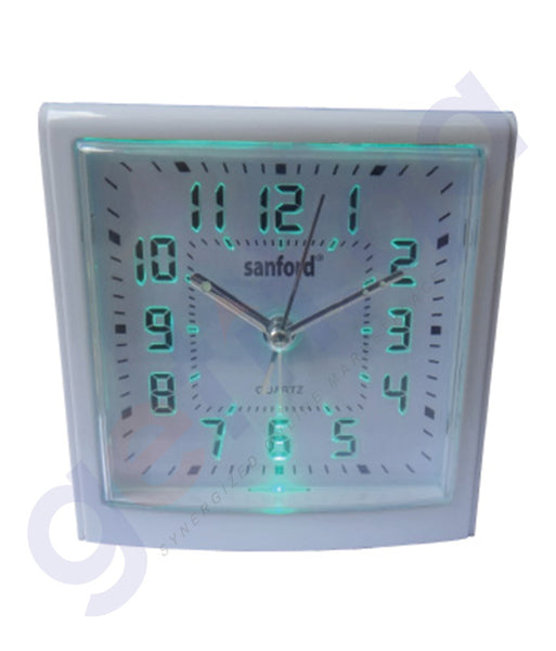 GETIT.QA | BUY SANFORD ALARM CLOCK LED SF3012ALC IN DOHA QATAR