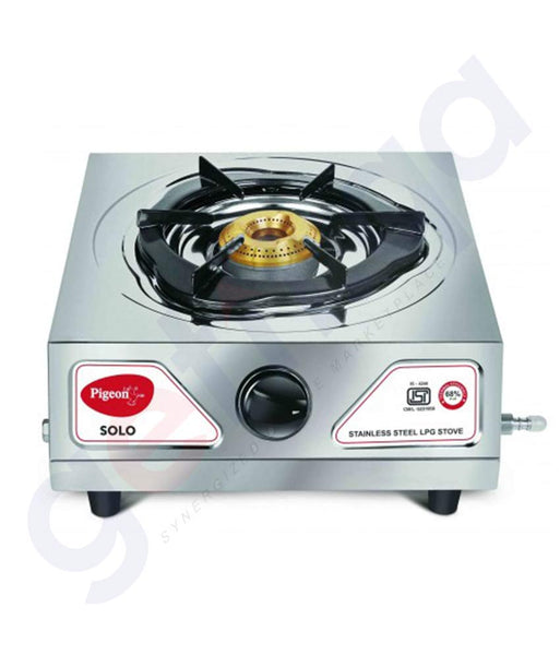 Buy Pigeon Single Burner Cute Stainless Steel LPG gas Stove - Solo in Qatar