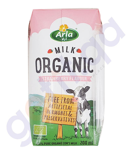 BUY BEST PRICED ARLA ORGANIC MILK STRAWBERRY 200ML ONLINE IN QATAR