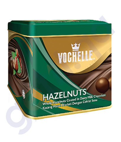 BUY VOCHELLE GIFT COVERED HAZELNUT 180GM TIN SQU IN QATAR