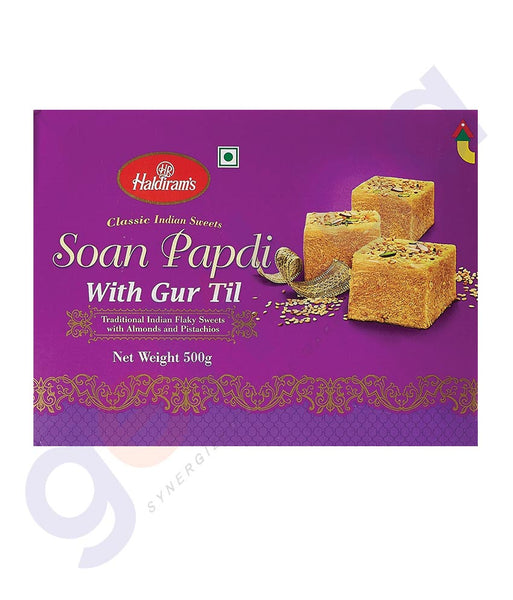 BUY BEST QUALITY HALDIRAMS SOAN PAPDI GUR TIL 500GM ONLINE IN QATAR