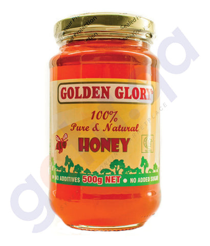 BUY GOLDEN GLORY HONEY JAR APPLE 500GM ONLINE IN QATAR