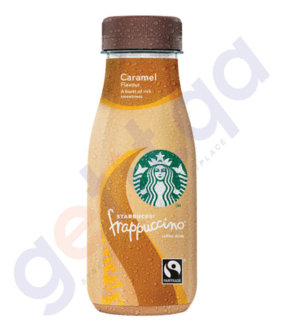 BUY BEST PRICED STARBUCKS FRAPPUCCINO CARAMEL GLASS 250ML IN QATAR