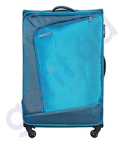 BUY AMERICAN TOURISTER VIENNA SPINNER TEAL BLUE 57CM - 29O IN QATAR