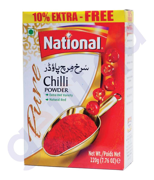 BUY BEST PRICED NATIONAL CHILLI POWDER 220GM ONLINE IN QATAR
