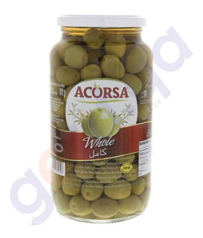 BUY BEST PRICED ACORSA OLIVES GREEN PLAIN JAR 575 GM IN QATAR