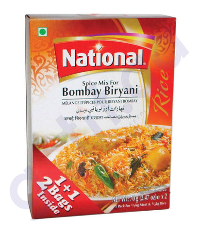 BUY NATIONAL BOMBAY BIRYANI (2X70G) ONLINE IN QATAR
