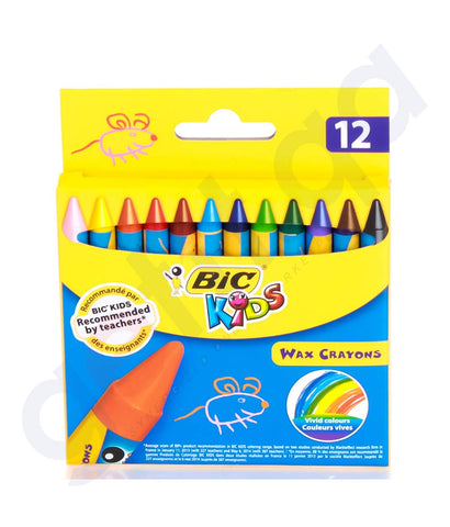 BUY BEST PRICED BIC WAX CRAYONS WALLET-12 CRAYONS ONLINE IN DOHA QATAR