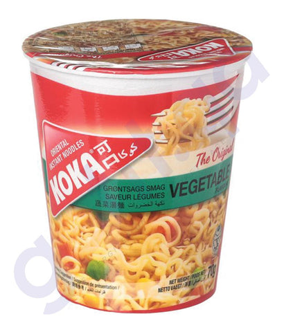 BUY BEST PRICED KOKA CUP NOODLES VEGETABLES 70GM IN QATAR