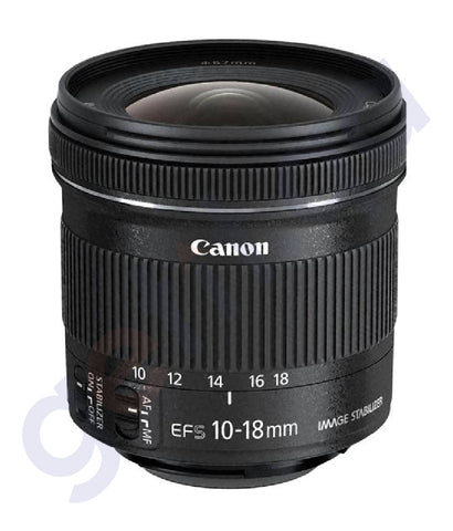 BUY CANON EFS 4.5-5.6 IS STM 10-18MM LENS ONLINE IN DOHA QATAR