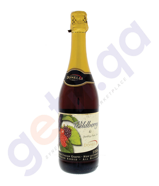 BUY BEST PRICED DONELLI GRAPE JUICE WILDBERRY 750ML ONLINE IN QATAR