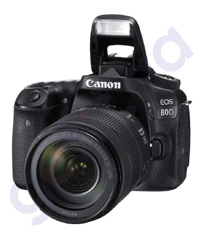 BUY CANON EOS 80D (W) 18-135MM LENS WiFi DSLR IN DOHA QATAR