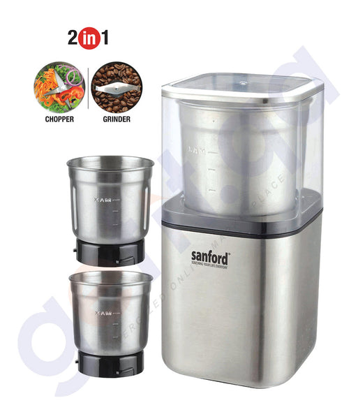 SHOP SANFORD 2 IN1 COFEE GRINDER AND CHOPPER 200W ONLINE IN QATAR