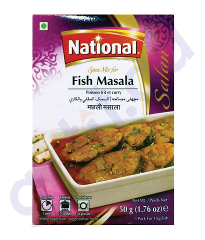 BUY BEST PRICED NATIONAL FISH MASALA 50GM ONLINE IN QATAR