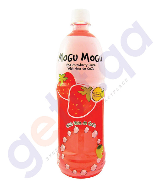 BUY BEST PRICED MOGU STRAWBERRY JUICE W/NATA 1LTR ONLINE IN QATAR