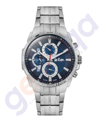 BUY LEE COOPER GENT'S MULTI FUNCTIONAL STAINLESS STEEL CASE SILVER BRACELET BLUE DIAL - LC06511.390 IN QATAR