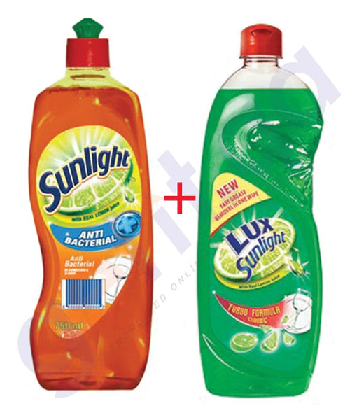 BUY LUX (2 PIECE) 1000ML SUNLIGHT DISHWASH LIQUID ONLINE IN QATAR