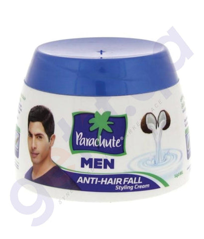 BUY PARACHUTE MEN ANTI HAIR FALL STYLING HAIR CREAM-140 ML IN QATAR