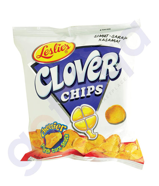 BUY BEST PRICED LESLIE'S CLOVER CHIPS CHEESE 55GM ONLINE IN QATAR