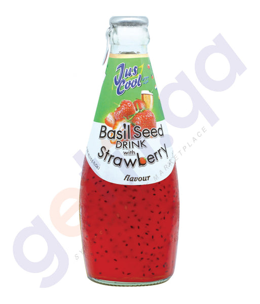 BUY JUS COOL BASIL SEED JUICE STRAWBERRY 300ML ONLINE IN QATAR
