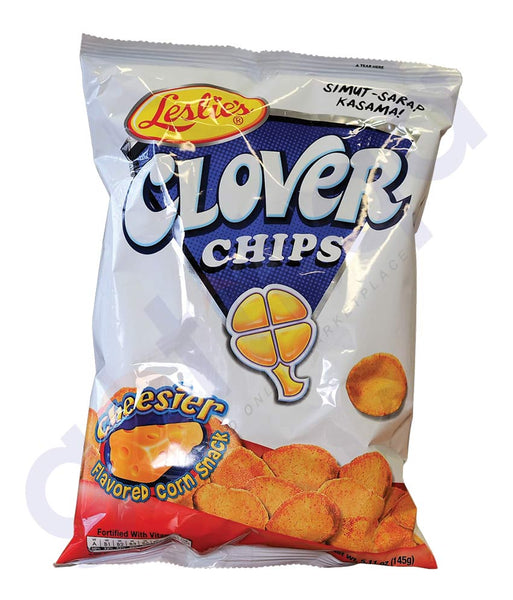 BUY BEST PRICED LESLIE'S CHIPS CLOVER CHESE 145GM ONLINE IN QATAR
