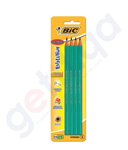 BUY BIC ECO EVOLUTION HB 4 PENCILS ONLINE IN DOHA QATAR