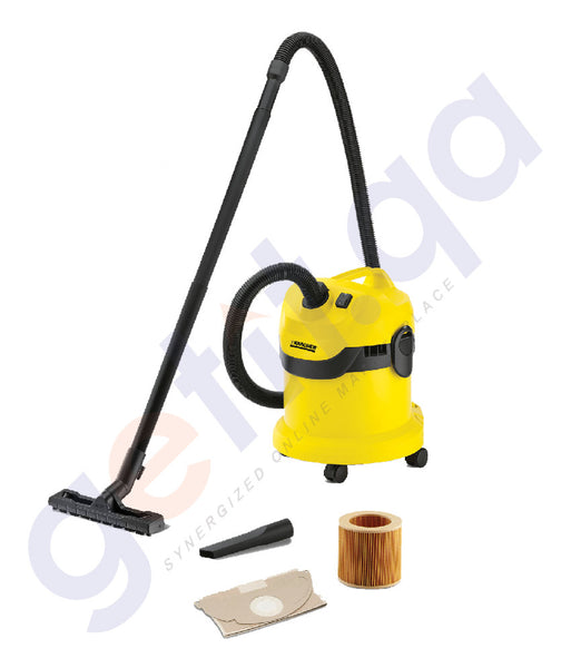 Buy Best Priced KARCHER MULTI-PURPOSE VACUUM CLEANER 12L/PLASTIC WD2 Online in Doha Qatar