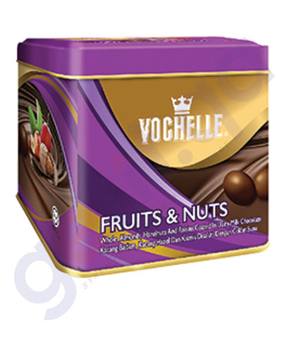 BUY VOCHELLE GIFT COVERED FRUIT/NUTS 180GM TIN SQU IN QATAR