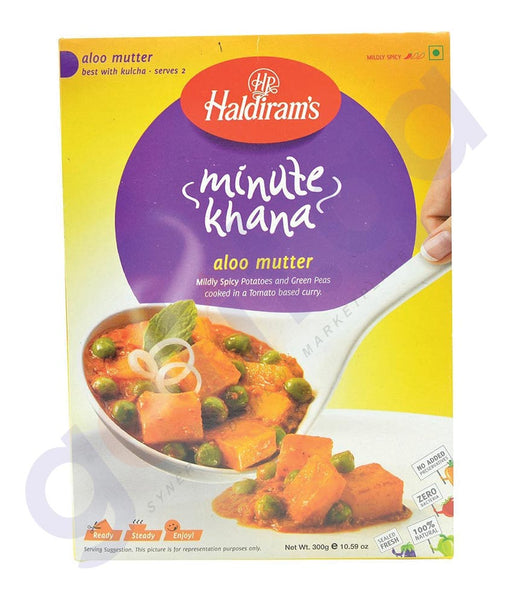BUY HALDIRAMS R/E ALOO MUTTER CURY 300GM ONLINE IN QATAR