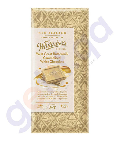 BUY WHITTAKERS-WEST COAST BUTTERMILK WHITE BLOCK 100GM IN DOHA QATAR