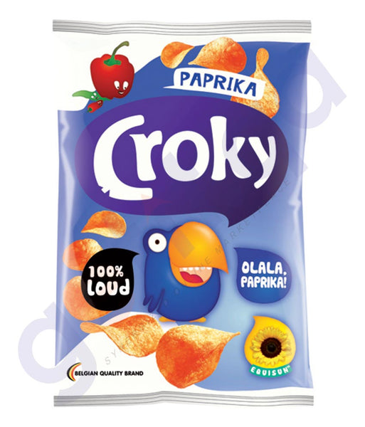 BUY BEST PRICED CROKY FLAT CHIPS PAPRIKA 100GM ONLINE IN QATAR