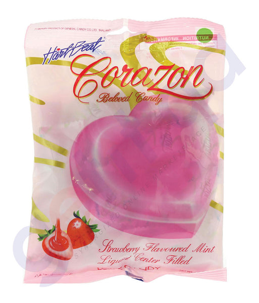 BUY HARTBEAT CANDY CORAZON STRAWBERRY MT 150GM IN QATAR
