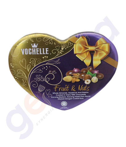 BUY BEST PRICED VOCHELLE GIFT COVERD FRUIT&NUT 180GM IN QATAR