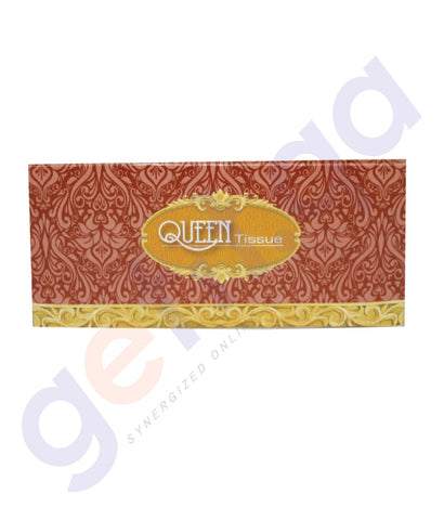 Buy Queen Facial Tissue 150 Sheets- 2Ply 1 Piece/ 5 Piece Pack Online in Doha Qatar