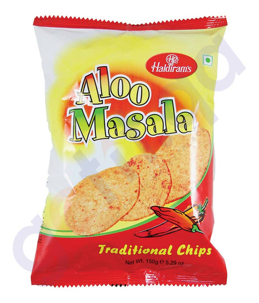 BUY BEST QUALITY HALDIRAMS ALOO MASALA CHIPS 150GM IN QATAR