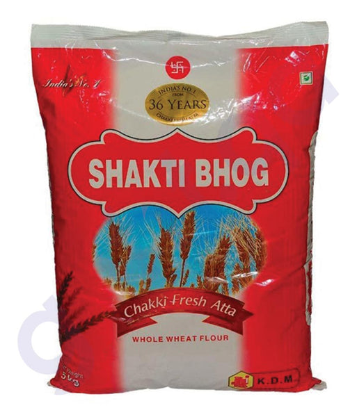 BUY BEST PRICED SHAKTI BHOG CHAKI FRESH ATTA 5KG IN QATAR