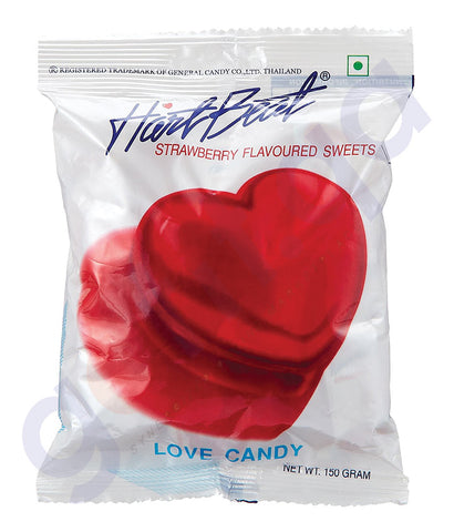 BUY BEST QUALITY HARTBEAT CANDY STRAWBERRY 150GM IN QATAR