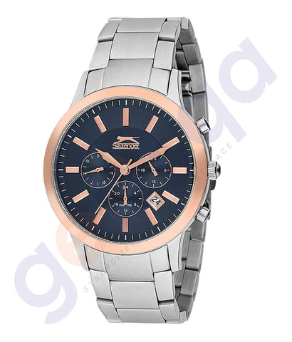 Slazenger Gents Multi Stainless steel Case Blue Dial - SL.9.6071.2.02 Dial Qatar