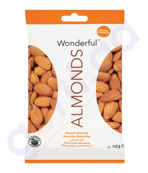 BUY BEST QUALITY WONDERFUL ALMONDS RAW NATURAL 115GM IN QATAR