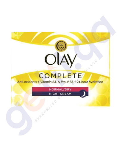 BUY OLAY COMPLETE NORMAL/DRY NIGHT CREAM - 50ML IN QATAR