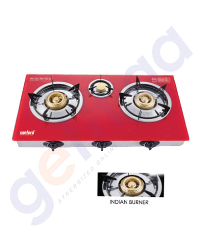 GETIT.QA | BUY SSANFORD GLASS GAS STOVE 3 BURNER SF5364GC IN DOHA QATAR